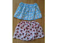 Handmade girl skirt 4-8 years Xmas themed
