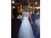 Justin Alexandra Wedding dress size 10 - Day/ night look