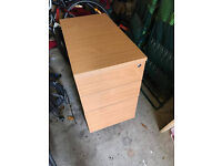Lockable wood, filing cabinet and drawers