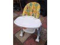 mothercare high chair good condition only £7.00