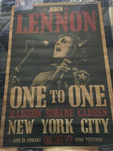John Lennon New York poster 1972 Beatles Free Shipping!