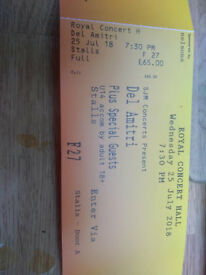 For Sale 3 tickets for DEL AMITRI live in concert at the Royal Concert Hall, Nottingham