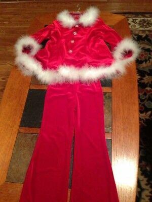 Girls Santa Suit Pants Pageant Parade Ooak Size 6 7 8. Christmas in July - Girls Santa Suit
