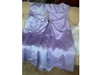 Two lalic bridesmaid dresses