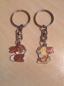 1 mr & mrs thumper / rabbit keyrings