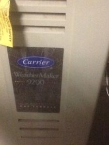 Carrier high efficiency furnace. 19 years old but works great .