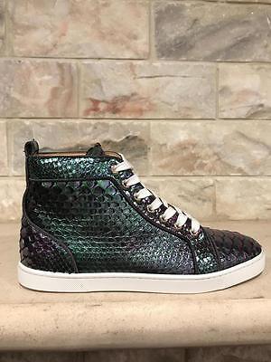 NIB Christian Louboutin Bip Bip Orlato Flat Python Hightop Sneaker 41 $1995