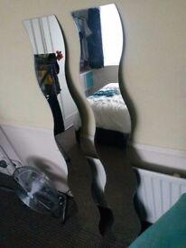 Ikea Wavy Krabb Mirrors x 2
