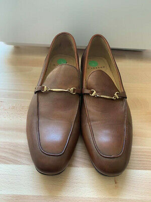 mens shoes size 7 Hudson London leather loafers tobacco