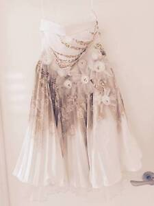 Strapless dress, size 6-8, cream and gold with jewels Buderim Maroochydore Area Preview