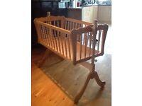 Beautiful wooden crib