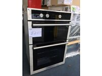 EX-DISPLAY HOTPOINT BLACK/STAINLESS STEEL BUILT-IN DOUBLE OVEN REF: H1021