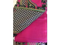Unstitched Pink, Black and White Material/Fabric - Zee.H.M Fashion