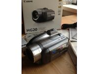 Canon HG20 camcorder with remote controls swap for guitar