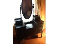 Victorian Dressing Table, black, mirror
