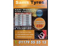 CHEAP PART WORN TYRES SOUTH WEST