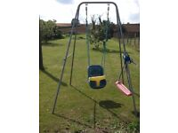Swing with two seats (toddler and young child)