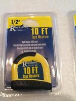 "10'x1/2"" Tape measures"