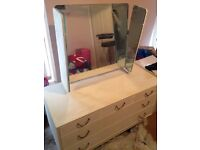 Upcycled Dressing Table. Hand finished.