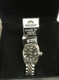 Brand New Orient Watch.Sapphire Crystal,Automatic. With Certificate Guarantee