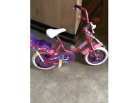 Girls 12 inch wheel bike