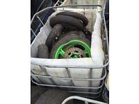 Various bike / moped wheels & tyres