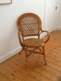 Ikea rattan and bentwood armchair