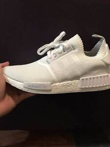 Adidas  NMD R1 PRIMEKNIT Monochrome all white - Includes postage Adelaide CBD Adelaide City Preview