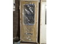 Composite back door in frame