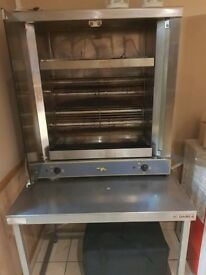 Chicken roasting machine grill - rotary