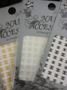 Autocollant pose ongles manucure Chanel Lv Dior Nail sticker