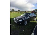 Mercedes C Class, 1.8 55 plate, nearly 90,000 on the clock, in very good condition.