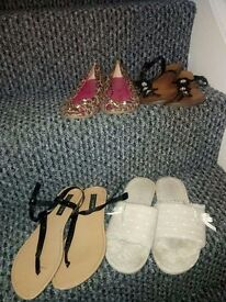 Size 7 Well Worn Ladies Shoes USED womens high heels low heel sandals flat shoes flip flops etc