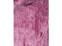 Purple velvet curtains