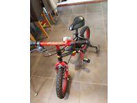 "Apollo kids 14"" bike with stabilisers"