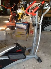Various pieces of gym equipment for sale 2 exercise bikes and 2 cross trainers and a multi gym
