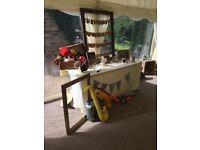 Polaroid camera washing line frame for wedding pegs