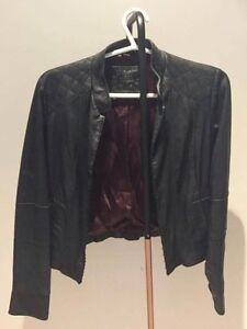 Stella Forrest soft black leather jacket size 12   Inner lining satin Erskineville Inner Sydney Preview