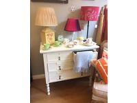 SALE ! Stunning White Antique Chest Of Drawers