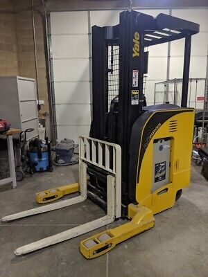2008 Yale Nr040da Lift Truck - Electric Forklift Side Shift 3 Stage Mast