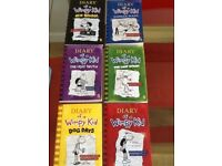 6 Diary of a Wimpy Kid books, excellent condition