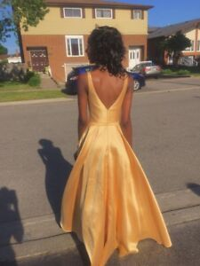 Gold Ball Gown/ Prom Gown