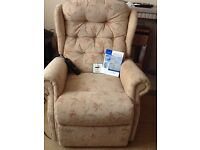 Celebrity Electric Recliner Chair - good condition. Small size with control and instructions.