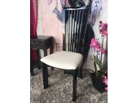 New High Gloss Black Occasional Chair Bedroom Chair