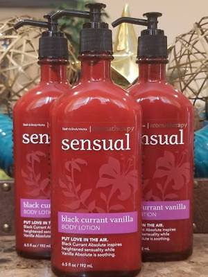 3 Bath Body Works - 3 BATH & BODY WORKS Aromatherapy Sensual Black Currant Vanilla Body Lotion Cream
