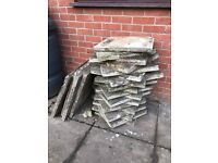 Used paving slabs for sale.