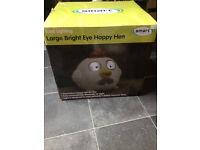 smart solar large bright happy hen