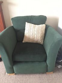 Free Green Couch with two Armchairs - Must Pick up