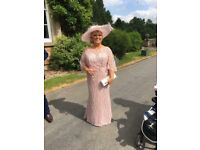 Mother of bride dress and hat