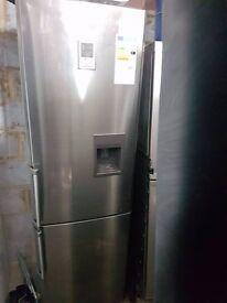 Extra tall Samsung stainless steel fridge freezer, water dispenser,good condition,3 months warranty